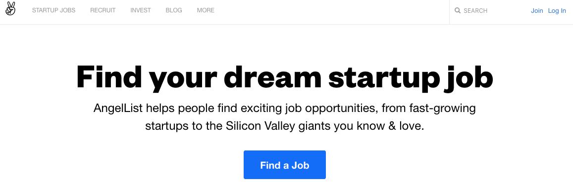 AngelList新創求職網站
