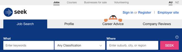 Seek紐澳求職網站
