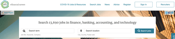eFinancialCareers財經銀行業求職網站